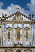 Santo ildefonso baroque church in porto portugal — Stock Photo