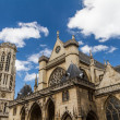 Stock Photo: Church of Saint-Germain-l Aux errois