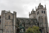 Vista panorâmica da catedral do porto — Foto Stock