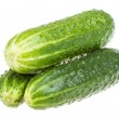 Healthy food. The green cucumbers isolated on white background — Stock Photo #15523475