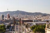 Панорамным видом на горизонт Барселоны. Испания. — Стоковое фото