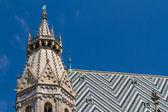 Catedral de santo estevão, no centro de viena, áustria — Fotografia Stock