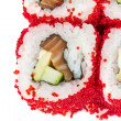 Tobiko Spicy Maki Sushi - Hot Roll with various type of Tobiko ( — Stock Photo #15560467