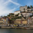 View of Porto city at the riverbank - Stock Photo