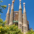 BARCELONA, SPAIN -JUNE 25: SagradFamilion JUNE 25, 2012: La — Stock Photo #15568575