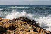 Ondas ao longo da costa portuguesa — Foto Stock