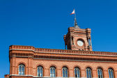 Berlin City Hall: Rote Rathaus on Alexanderplatz — Stock Photo