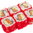 Tobiko Spicy Maki Sushi - Hot Roll with various type of Tobiko ( — Stock Photo #15571367
