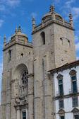 панорамный вид собор порту (se порту) - португалия — Стоковое фото