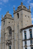 Panoramic view of the Porto Cathedral (Se Porto) - Portugal — Foto Stock