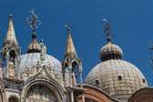Saint Marks Basilica, Cathedral, Church Statues Mosaics Details Doge's Palace Venice Italy — Stock Photo