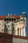 Royal castle in Wawel, Krakow — Stock Photo