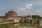 The Mausoleum of Hadrian, known as the Castel Sant'Angelo in Rome, Italy. — Stock Photo