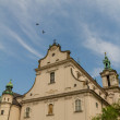 cathedral in old town of cracow — Stock Photo