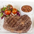 Grilled Beef Steak Isolated On a White Background — Stock Photo