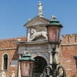 Arsenal and Naval Museum entrance view (Venice, Italy). - 图库照片