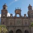 Cathedral of Canary Islands, Plaza de Santa Ana in Las Palmas de - Stock Photo
