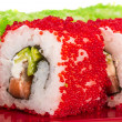 Tobiko Spicy Maki Sushi - Hot Roll with various type of Tobiko ( - Stock Photo