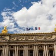 Architectural details of Opera National de Paris: Front Facade. - 图库照片