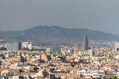 Panoramatický pohled na panorama barcelony. španělsko. — Stock fotografie