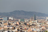 Panoramic view of Barcelona Skyline. Spain. — Stock Photo