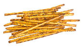 Sweet baking sticks on a white plate — Stockfoto