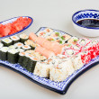 Stock Photo: Sushi Set - Different Types of Maki Sushi and Nigiri Sushi