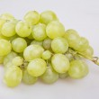 Fresh green grapes. Isolated on white — Stock Photo