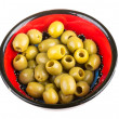 Olives over white background - Stock Photo