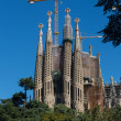 BARCELONA SPAIN - OCTOBER 28: La Sagrada Familia - the impressiv — ストック写真