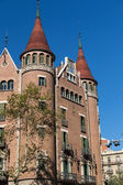 Modernist house like a castle in Barcelona city — Stock Photo