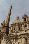 St. agnese in agone in piazza navona, rom, italien — Stockfoto