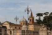 Piazza del popolo w rzymie — Zdjęcie stockowe