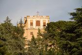 Wielki kościół w centrum rzymu, włochy. — Zdjęcie stockowe