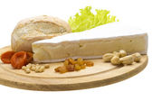 Piece of Brie cheese — Stock Photo
