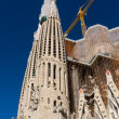 BARCELONA SPAIN - OCTOBER 28: La Sagrada Familia - the impressive cathedral designed by Gaudi — Photo