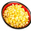 Corn in a plate — Stock Photo