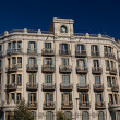 Buildings' facades of great architectural interest in the city o - Stock Photo