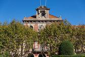 Barcelona - Parliament of autonomous Catalonia. Architecture lan — Stock Photo