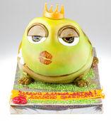 Handmande cake shot in a closeup scene — Stock Photo
