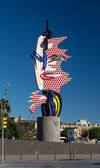 BARCELONA - OCTOBER,28: Barcelona head sculpture on October 28, — Stock Photo