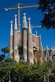 BARCELONA SPAIN - OCTOBER 28: La Sagrada Familia - the impressive cathedral designed by Gaudi — Stockfoto