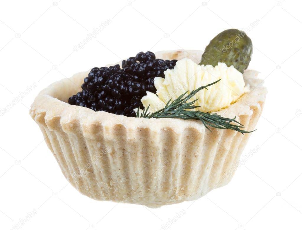 Canap de caviar preto sobre fundo branco foto stock for Canape de caviar