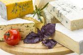Variety Cheeses — Stock Photo