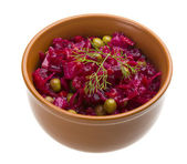 Vinaigrette Russian beetroot salad — Stock Photo