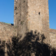 Old Wall and Tower of Barcelona City — Stock fotografie