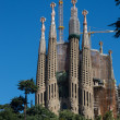 BARCELONA SPAIN - OCTOBER 28: La Sagrada Familia - the impressiv — Stock Photo