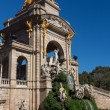 Barcelonciudadelpark lake fountain with golden quadrigof A — Stock Photo #20237377