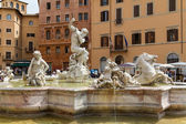 площадь пьяцца навона, рим, италия — Стоковое фото