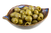 Olives over white background — Stock Photo